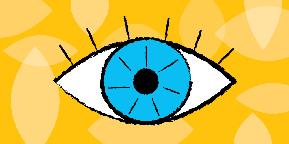 eye drawn with easy shapes for children