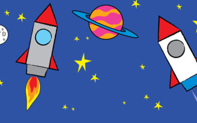 Draw a Rocket Ship to Outer Space!