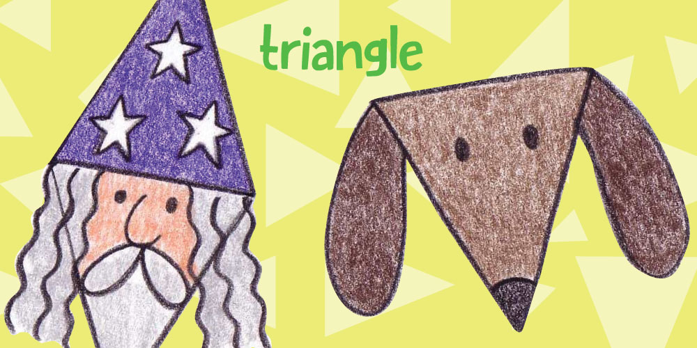 Draw a Dog and a Wizard with Triangles!