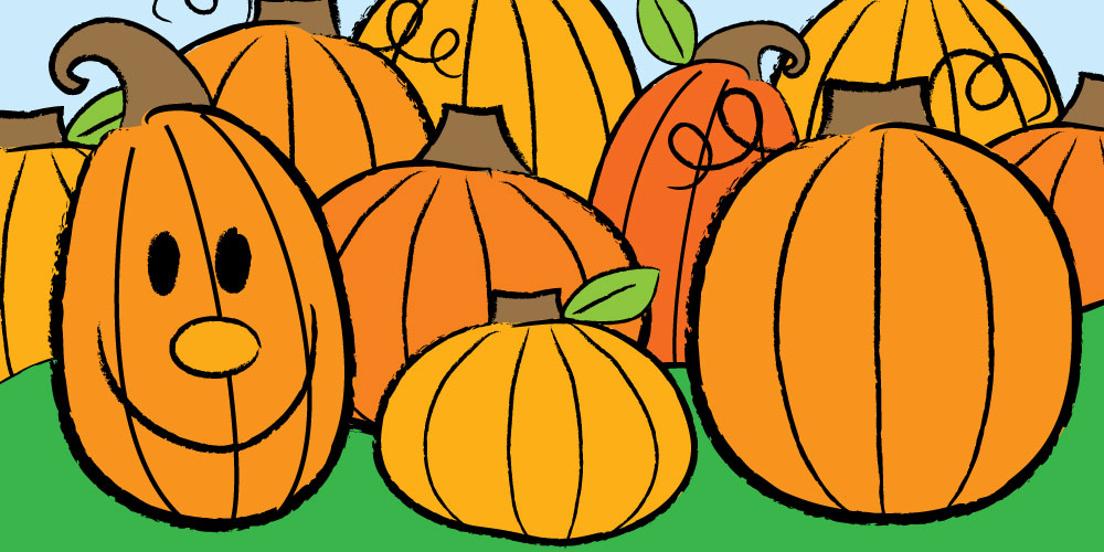 cute pumpkins drawn from easy steps for kids