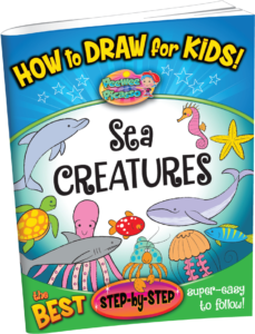 how to draw sea creatures for children