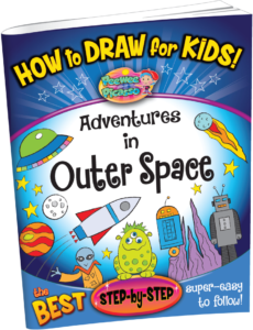 how to draw space for children
