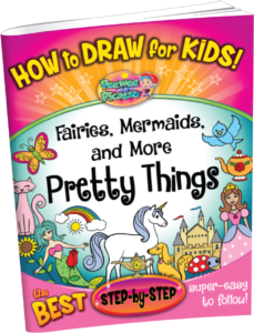 how to draw fairies mermaids for children