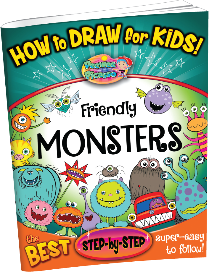 how to draw friendly monsters book cover