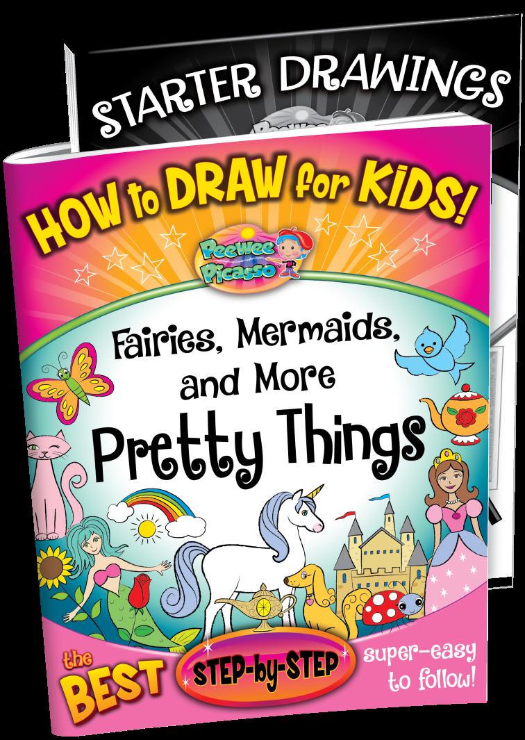how to draw fairies mermaids pretty things children