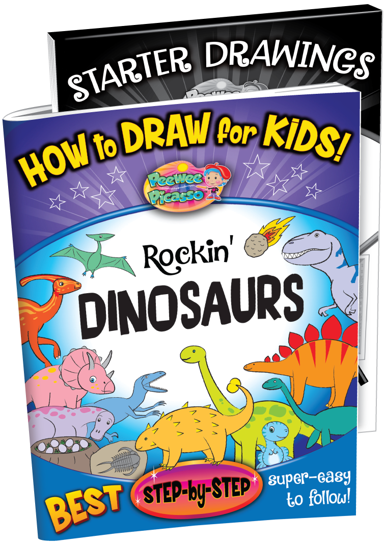 how to draw dinosaurs children