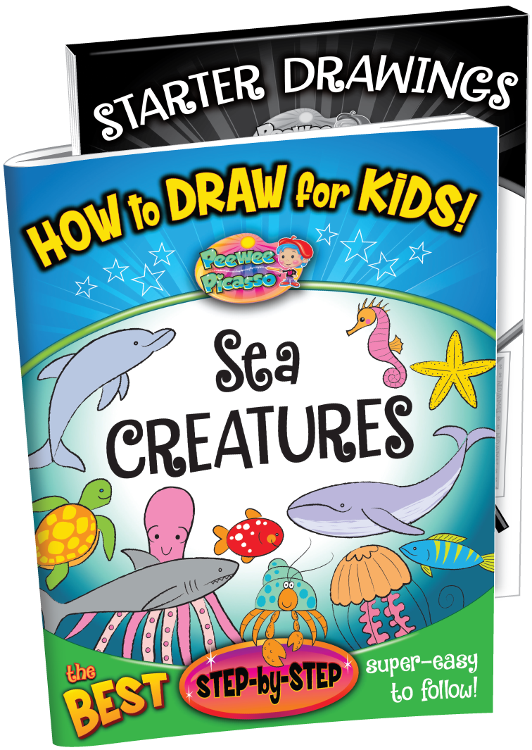 how to draw sea creatures children